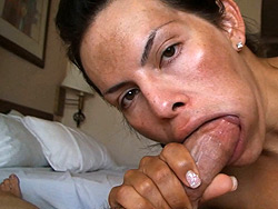 Home pov. Hot shemale Foxxy having oral pleasure