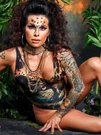 Foxxy jungle fever. Amazing Foxxy stripping in jungle