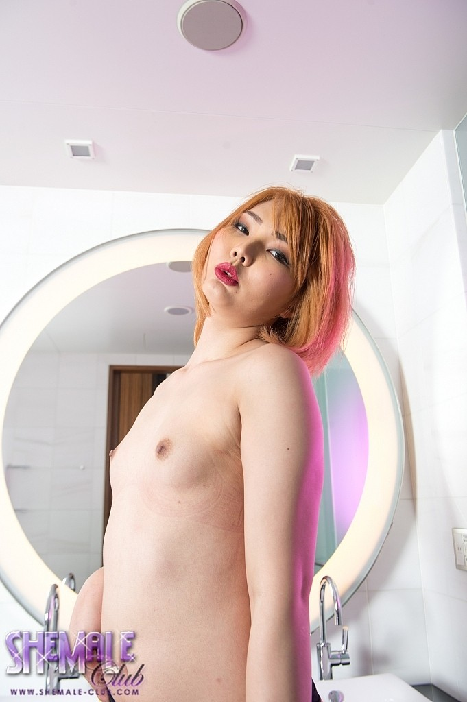 Horny little shemale asian yume is got a appealing tight little