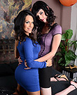 Foxxy and mandy Amazing tgirls Foxxy and Mandy blowjob & fingering.