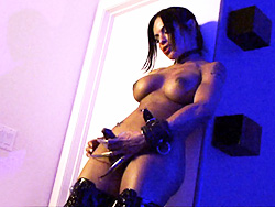 Foxxy fetish fantasy. Naughty tranny Foxxy enjoying her fetish fantasy