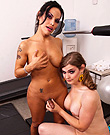 Me and tiffany at the gym Dirty Foxxy having naughty fun with Tiffany Starr.