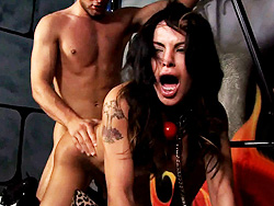 Rough sex Tied up Foxxy gets rough anal and mouthfucking.